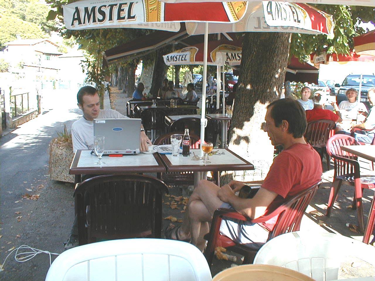 Rencontre entre artiste et villageois, Luc Kerléo, Jean Louis